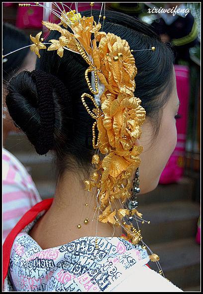 傣族女子的头饰