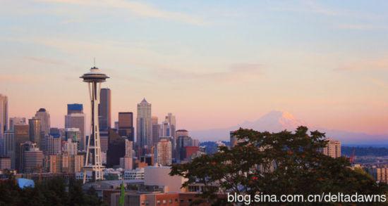 美丽的西雅图(来源:新浪博客三角猫Lucy)