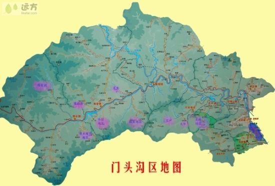 门头沟区地图