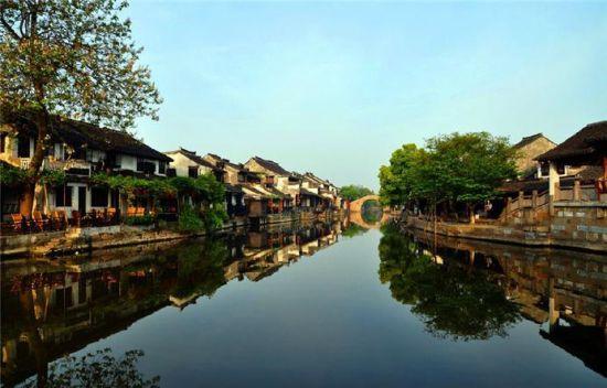 西塘古镇中最著名的风景线是一道1000多米图片