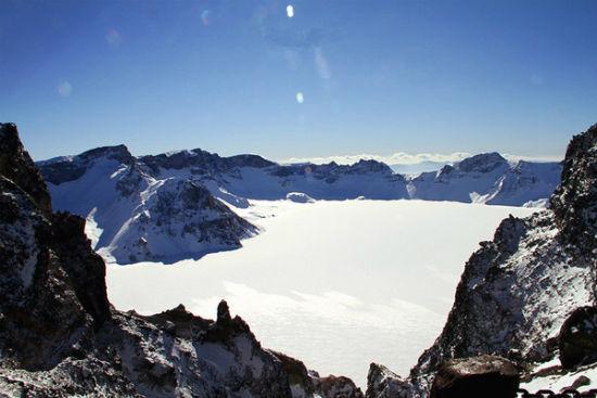 长白山美丽游记 在天池聆听冬雪的心跳
