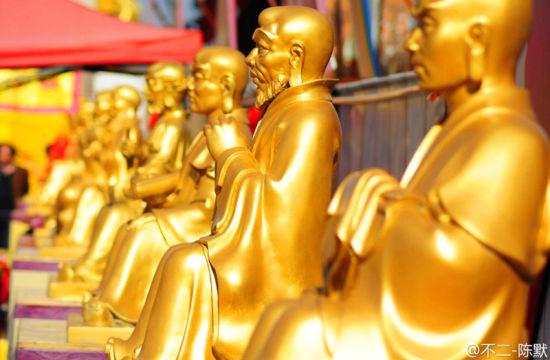 法门寺诸神像 庄严肃穆(图片来源:不二-陈默)