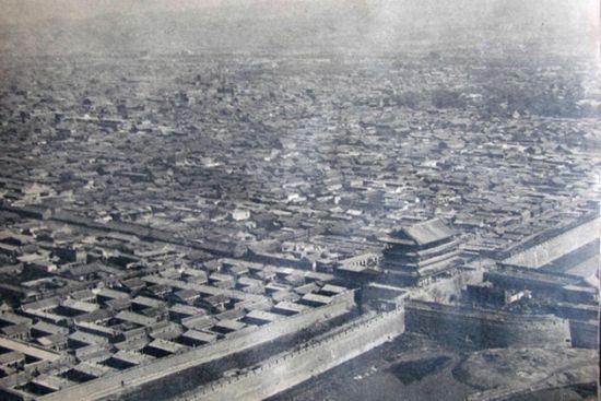 上世纪俯瞰老太原城