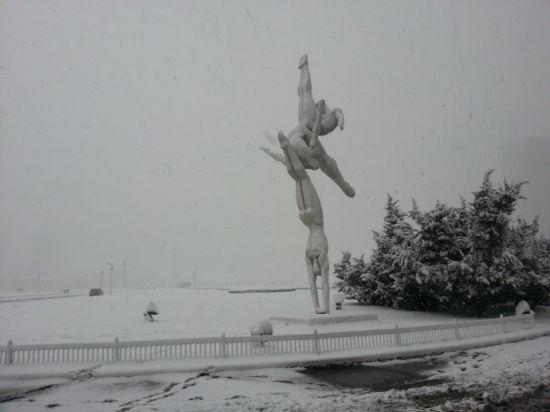 新浪旅游配图:冬日星海广场 摄影:图片来自网络