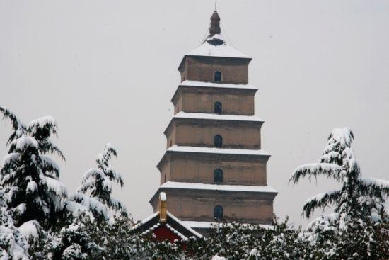 盘点西安周边最美雪景 大雁塔