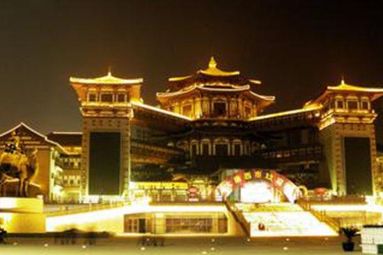 唐文化一条街大唐西市划分为特色步行街现代商业区休闲娱乐区