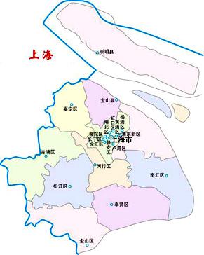 上海区域地图_上海市地图
