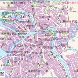 圣彼得堡地图中文版