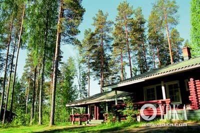 芬兰很多度假中心,都坐落于树林之间,让入住者重回大自然的呼吸之中。