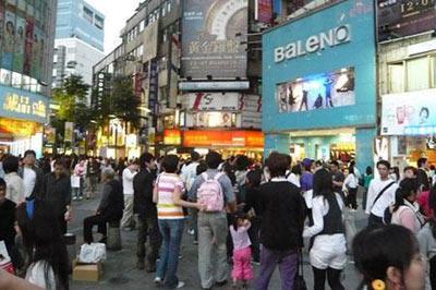 繁华的台北街头