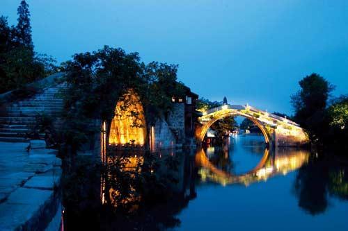 乌镇桥里桥夜景