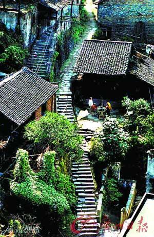 洪江古商城有古窨子屋建筑群