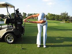 球技-球场18洞体能锻炼(7)拉伸上杆肩部肌肉