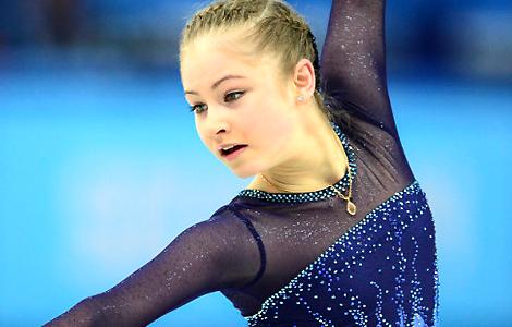 15岁俄罗斯美女选手惊艳冰场
