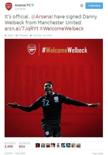阿森纳签下维尔贝克