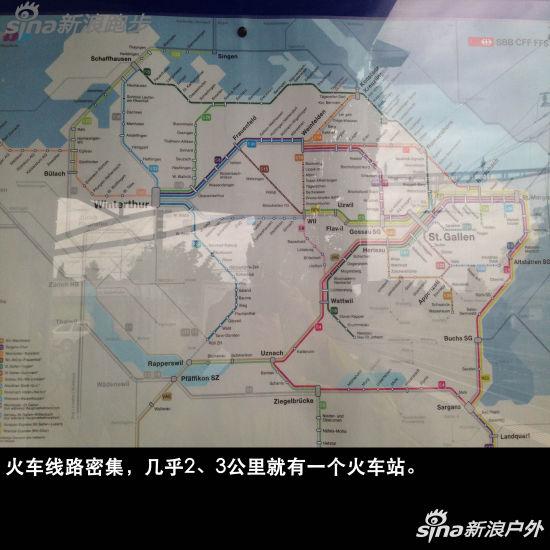 火车线路密集,几乎2、3公里就有一个火车站。