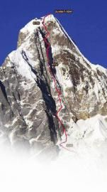 遇难者幺妹峰登顶路线。