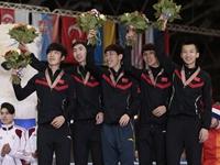 短道世锦赛男子接力时隔15年夺冠 女队憾失五连冠