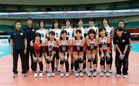 日本U21女排 平均年龄不到20岁