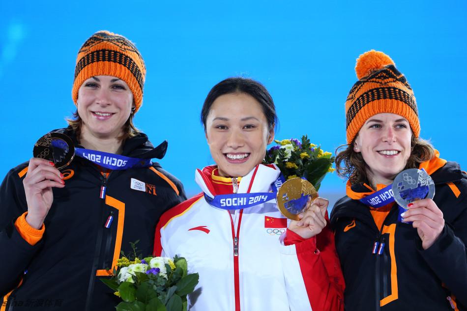 张虹索契冬奥会女子速滑1000米夺冠