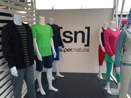 欧洲户外展上的SN展品,这些羊毛内衣的设计很有欧洲范儿。