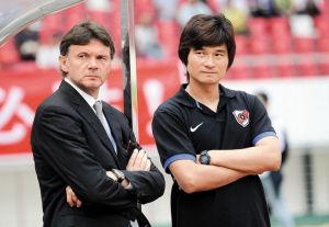 深圳红钻教练特鲁西埃和李毅