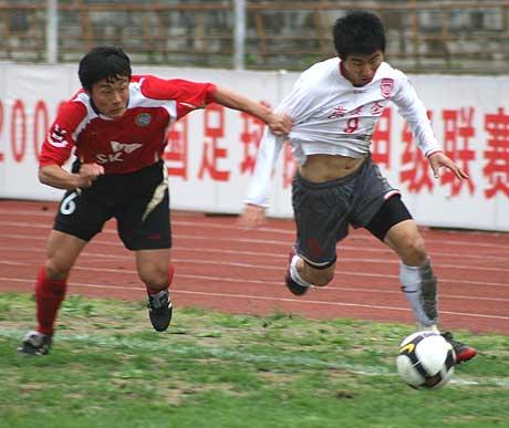图文-延边队1-0北京宏登韩国外援金恩焕边路突破