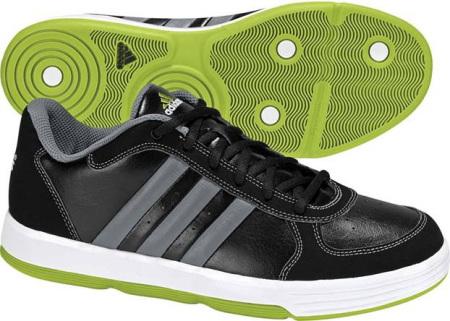 阿迪达斯 男子 篮球鞋 G24499/一号黑/中铅灰/辐射绿