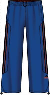 阿迪达斯 长裤 P53175完美蓝/辐射橙