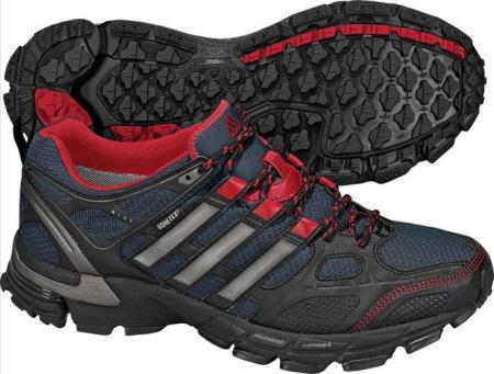 阿迪达斯 跑鞋 G16968深青灰/金属黑银/校园红