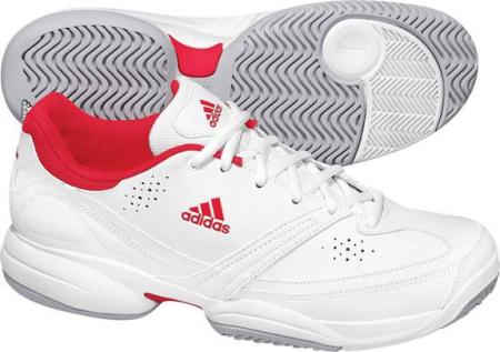 阿迪达斯 网球鞋 G17236亮白/辐射红/宇宙灰