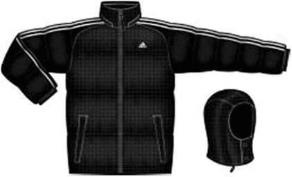 阿迪达斯 羽绒服 U35781黑/白