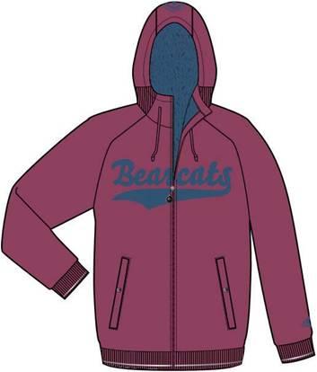 阿迪达斯 羊绒夹克 P85399未来红/深蓝