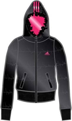 阿迪达斯 羽绒夹克 P86264黑/辐射粉