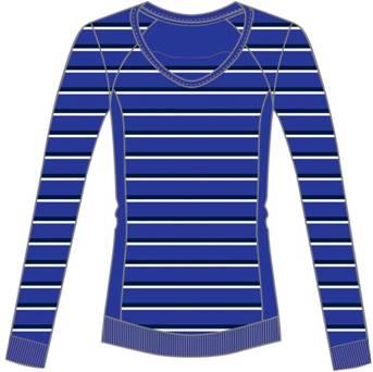 阿迪达斯 长袖套衫 U35764完美蓝/天然蓝/淡骨白