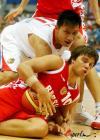 图文-[斯杯]中国男篮VS俄罗斯眼神中显露赢球欲望