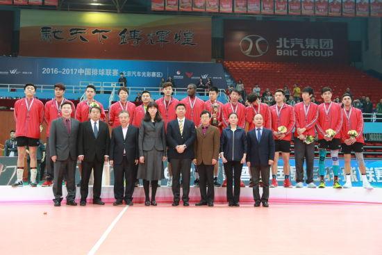 中国男排联赛决赛第117场 北京队主场2:3负上海队