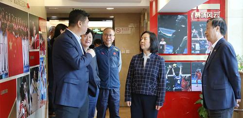 杨宁副局长到排球中间展开党建工作专题调研