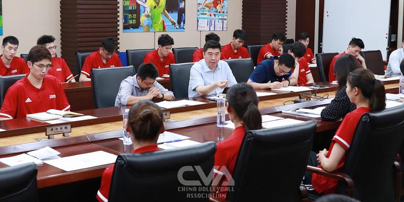 排球中心组织国家女排、男排进行反兴奋剂准入教育