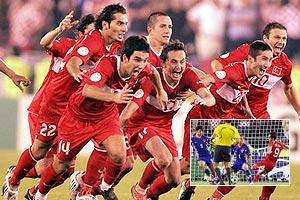 土耳其补时最后一秒扳平 点球淘汰克罗地亚