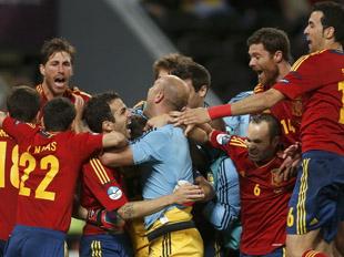 西班牙点球大战胜葡萄牙晋级决赛