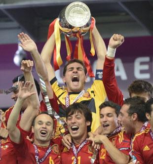 西班牙4-0意大利夺冠