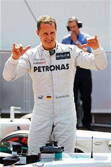 F1摩纳哥站舒马赫夺临时杆位正赛将退5位发车