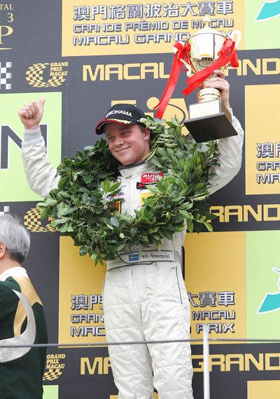 沙龙国际车手罗森奎斯特夺得亚军