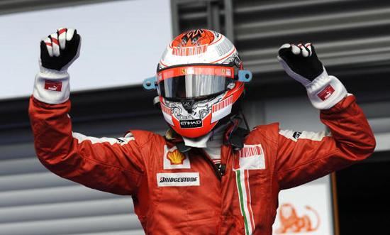 图文-F1比利时站KIMI夺冠再现芬兰冰人夺冠酷姿