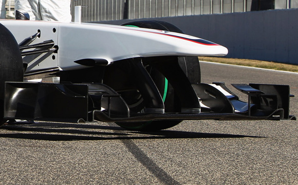 图文-索伯F1车队发布新车C29C29前翼结构特写