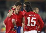 瑞士球员相互安慰
