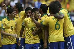 联合会杯揭幕战-内马尔172秒世界波 巴西3-0日