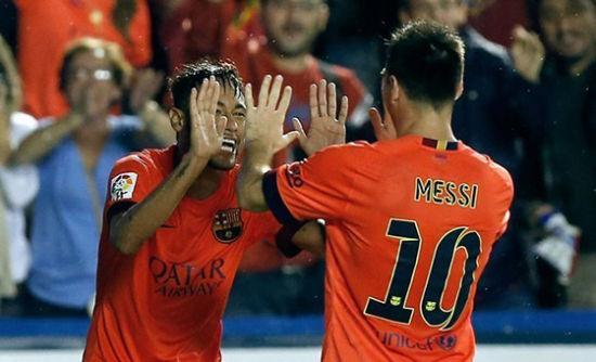 梅西3次助攻内马尔进球