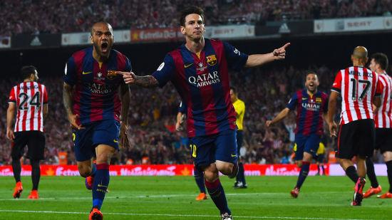 梅西庆祝进球
